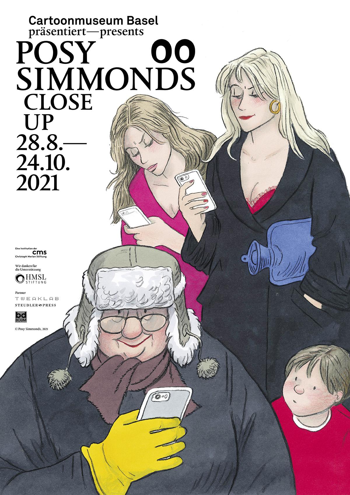 00 Ausstellungsplakat Posy Simmonds Close Up amu