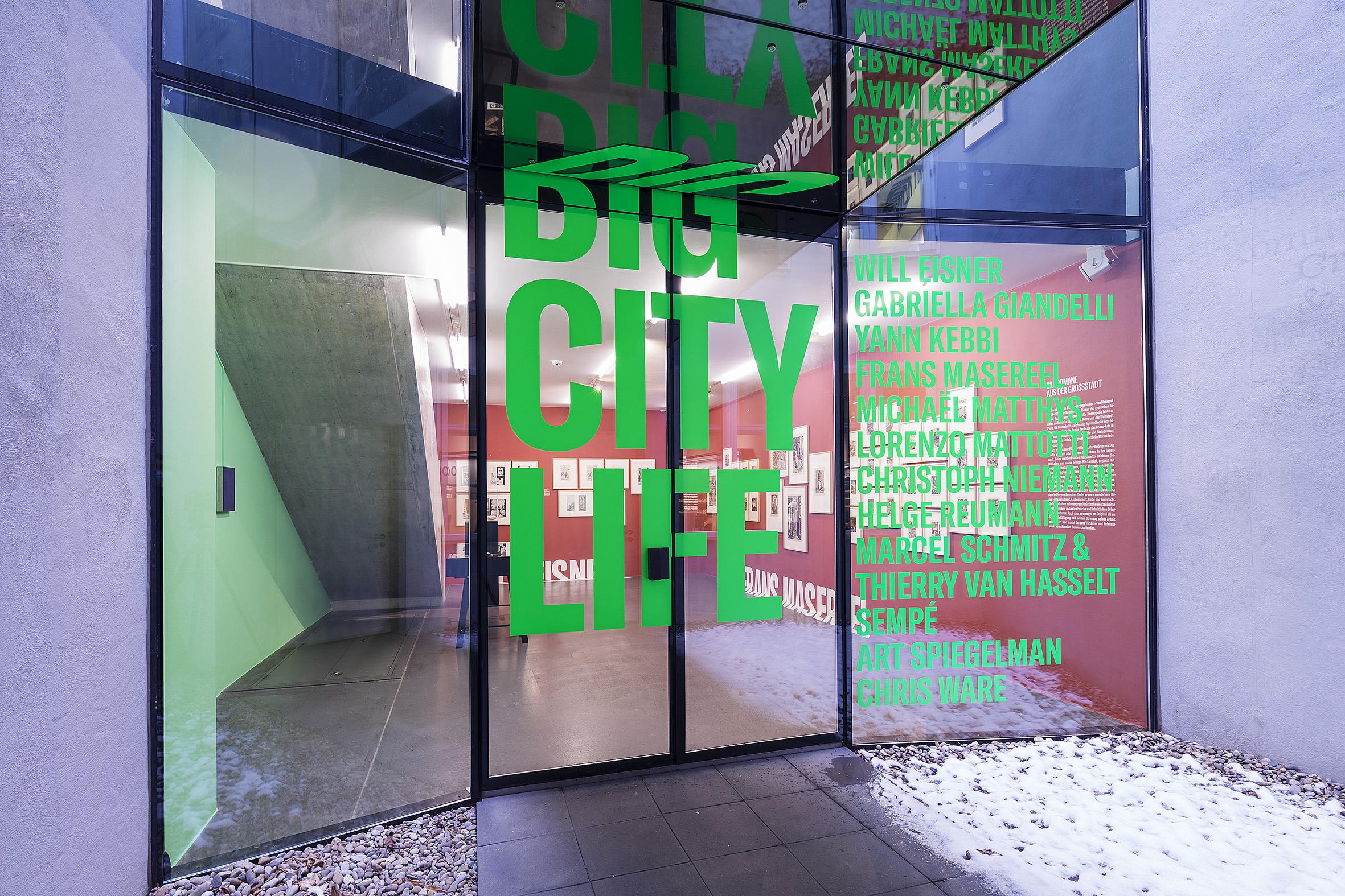 Eingang Ausstellung Big City Life